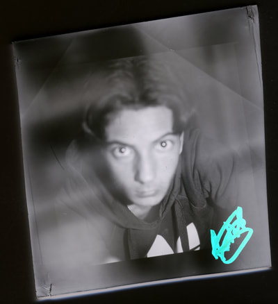 Ryan Free photography, paper negative, Cheltenham, medium format, ilford multigrade, self portrait